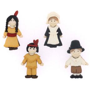 PilgrimsIndiansButtons